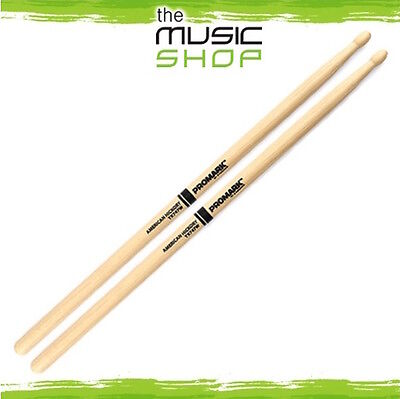 New Set of Promark Hickory 747 'Rock' Drumsticks with Wood Tips - TX747W