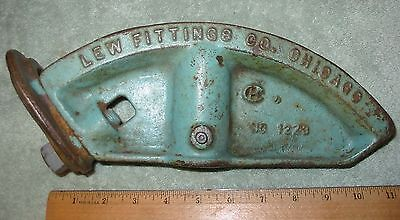 "Conduit Pipe Bender 1 1/4"" Lew Fittings  Co. Chicago No. 1223"