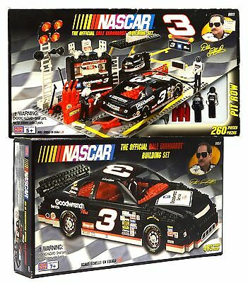 New! MEGA BLOKS NASCAR BUILDING SET Lot of 2 DALE EARNHARDT Sets No. 9911 & 9957