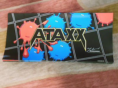 ATAXX  NEW OLD STOCK 25 1/4 BY 12''   arcade game  sign marquee CHECK PICTURE