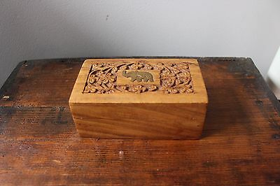 Small Wooden Indian Tea Box