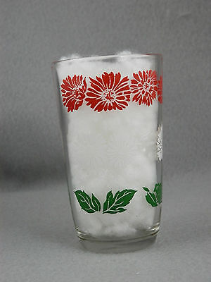 Vintage Swanky Swigs, Red and White Floral Design