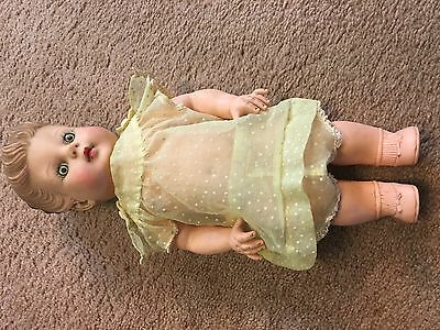 Vintage Eegee Girl Doll Rubber 1950's