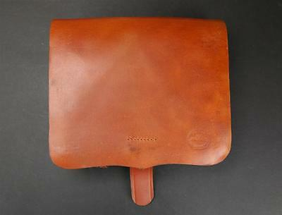US Civil War Springfield Enfield Musket Rifle Natural Leather .58 Cartridge Box