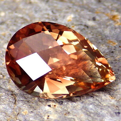PINK-COPPER OREGON SUNSTONE 5.61Ct FLAWLESS-FOR TOP JEWELRY-PERFECT FACETING!!