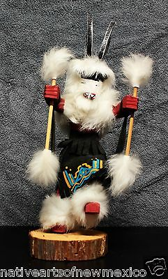 Native Navajo Deer Kachina Doll Black Large Handmade!! Jacida Loley