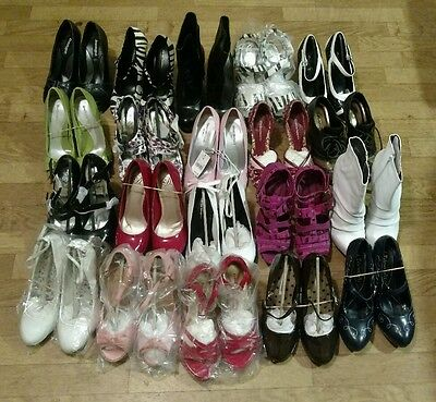 BRAND NEW LOT 20 pairs of Womens Shoes Size 6 Heels Sandals Boots, UNWORN!