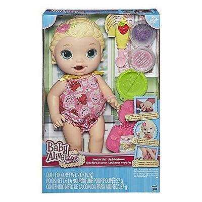 Baby Alive Super Snacks Snackin Lily Blonde Brand New Eat Poop Shipped Same Day