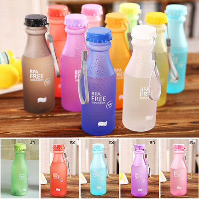 Portable Leak-proof Sport Camping Cycling Travel Juice Water Bottle Cup 550ml