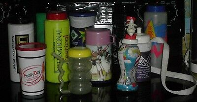Lot/11 Assorted Sizes & Brands Thermos Sports Bottles Bellywasher Cups~Gpc To Ec