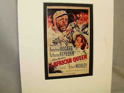 African Queen Movie  Window Card from Pressbook to advise theater owners