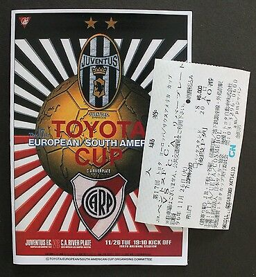 1996 Toyota Cup Replica Programme & Ticket Juventus V River Plate