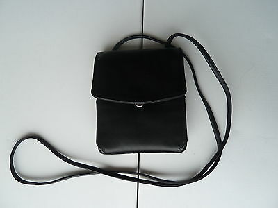 Derek Alexander Black Leather Wallet Shoulder Strap