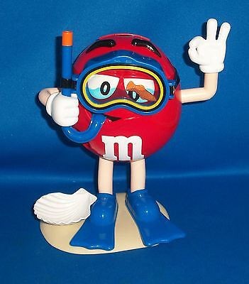 M&M's Candy Dispenser Red Scuba Diver Character, Snorkling