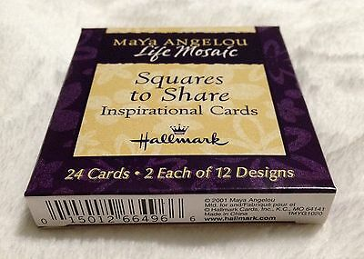 Maya Angelou Hallmark Squares To Share Inspirational Cards