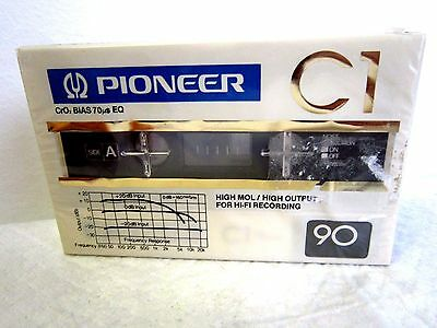 CASSETTE TAPE BLANK SEALED - 1x (one)  PIONEER C1 90  [1981-82]   made in Japan
