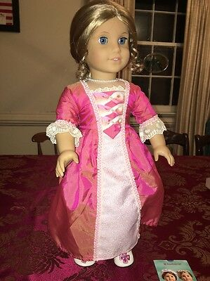 American Girl Elizabeth Doll & Necklace & Trading Cards