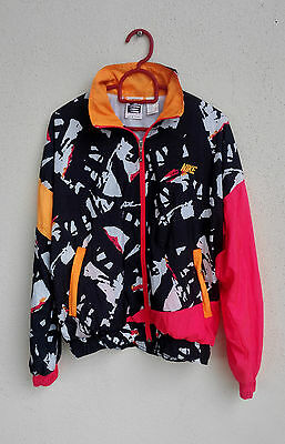 RARE VINTAGE 80's NIKE SWEATER JACKET SMALL NEON ANDRE AGASSI SUPREME COURT NICE