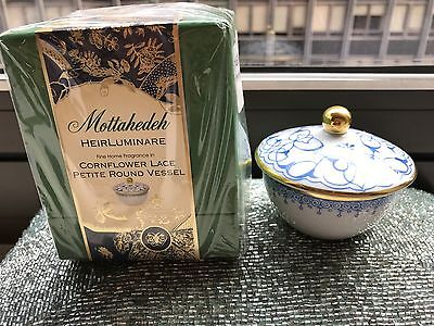 Mottahedeh Heirluminare Blue Cornflower Lace Votive Candle Luxor Box FREE SHIP