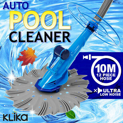 Pro Automatic Swimming Pool Vacuum Floor Below Ground Auto Cleaner No Pickup