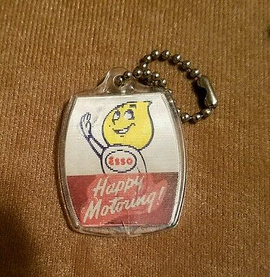 Vintage Esso Gas Oil Flicker Keychain Keyring Dealer Giveaway