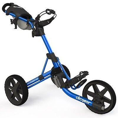 New Clic Gear Model Clicgear 3.5+ Golf Push Cart - Blue/black
