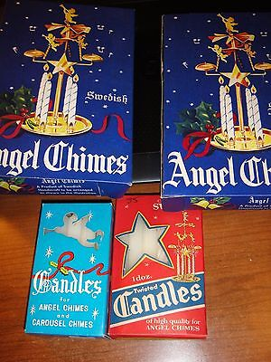 2 Boxes of Vintage Angel Chimes and Candles