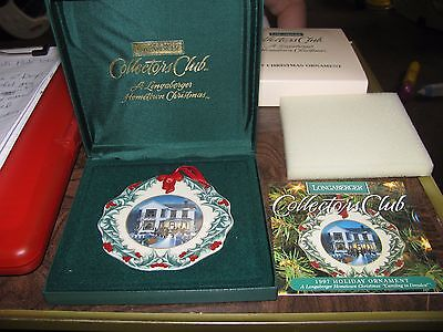 longaberger collectors club hometown christmas ornament 1997 caroling in dresden