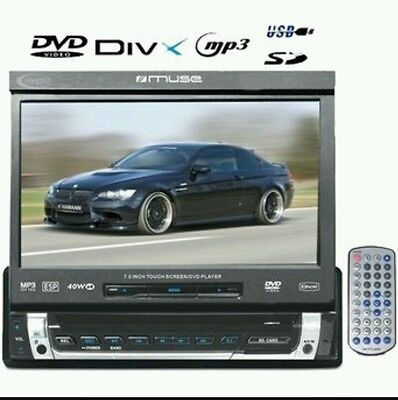 Autoradio Dvd Divx Mp3 Bluetooth Sd Ecran Rabattable Tactile