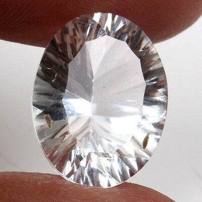 Natural 16x12 mm CRYSTAL QUARTZ CONCAVE CUT Oval Gemstone 9.00Cts Top Supplier