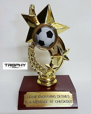 1 X SOCCER TROPHY,MEDAL,AWARD,120mm High, FREE ENGRAVING