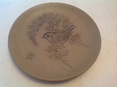 """Rare Poole Pottery England Small 5"""" Plate Bird Great Condition"""