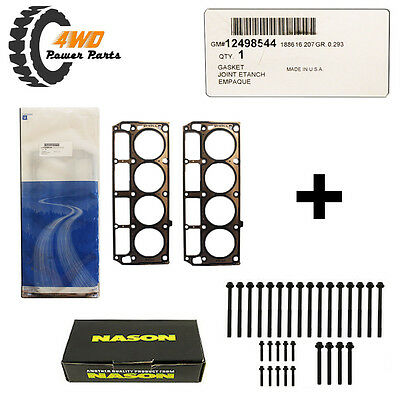 Holden LS1 Genuine Head Gaskets (Pair) with Head Bolts - Suits 1999-2001