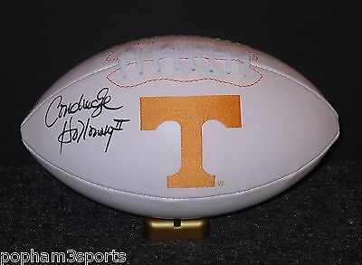 CONDREDGE HOLLOWAY Signed/Autographed TENNESSEE VOLUNTEERS VOLS Football w/COA
