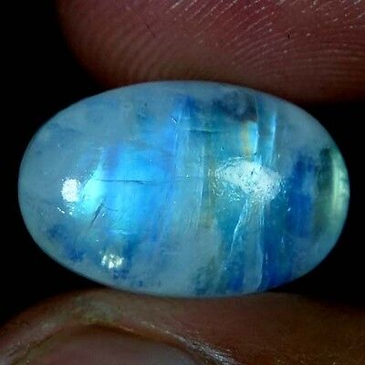 13.10Cts. AAA 100% NATURAL CHATOYANT RAINBOW MOONSTONE OVAL CABOCHON GEMSTONES
