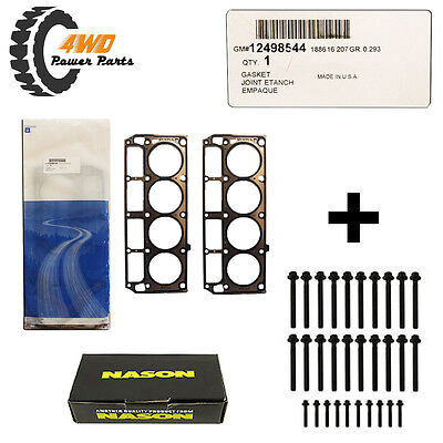 Holden LS1 Genuine Head Gaskets Pair w/ Head Bolts Suits 2001 onwards (2 length)