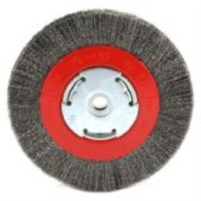 Forney 72751 Wire Bench Wheel Brush, Narrow Face Fine Crimped with 1/2-Inch and