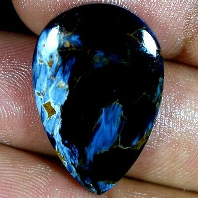 18.75Cts 100% NATURAL EXCLUSIVE POWER PIETERSITE PEAR CABOCHON QUALITY GEMSTONES