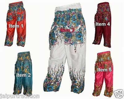 5 Pc lot Indian Alibaba Gypsy Baggy Harem Men & Woman Trouser Hippie Pant
