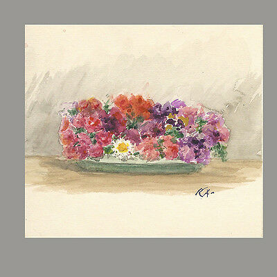 Antique Russian Floral Watercolor By Grand Duchess Xenia Alexandrovna