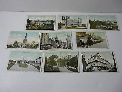 9 Early 1900's postcards Nottingham, Derby, Coventry, Chesterfield