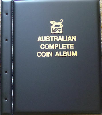 VST LARGE COIN Empty ALBUM - COMPLETE AUSTRALIAN - FRONT BACK COVER SCREW POSTS