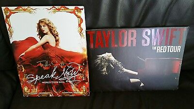 Taylor Swift Speak Now Red Tour Concert Books Programs Posters Lot Of 2 New Look
