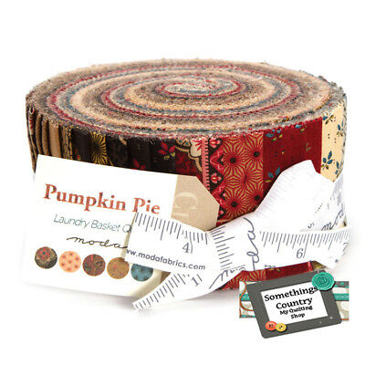 Moda Jelly Roll PUMPKIN PIE Patchwork Quilting 2.5inch strip Fabric NEW Material