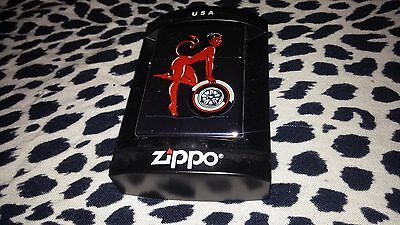 Coop Devil Pin-Up Girl Zippo Made In The Usa Mint New Rare Limited Edition