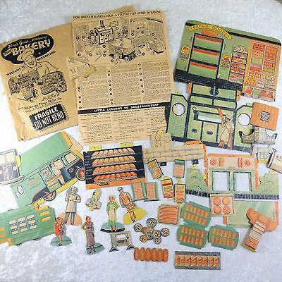1936 Pillsbury Bakeryland Cardboard Punch Out Play Set Advertising Premium-AS-IS