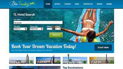 Making $97+/mo TRAVEL Booking Website - BlueTravelling.com - EARN $1-4/Lead!