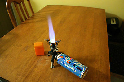 Ultra Light and Portable Camping Hiking Butane Gas Burner / Stove- Fold out Legs