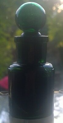 Dr Mackenzies Catarrh Cure Antique Emerald Green Smelling Bottle