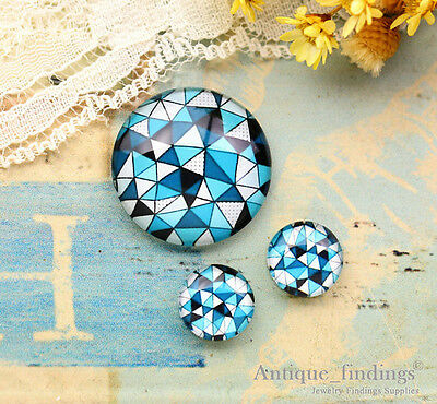 25MM+2PCS 12mm Abstract Glass Cabochon Dome Cameo Cabs RCH013F